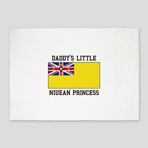 Daddy's Little Niuean Princess 5'x7'Area Rug