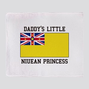 Daddy's Little Niuean Princess Throw Blanket