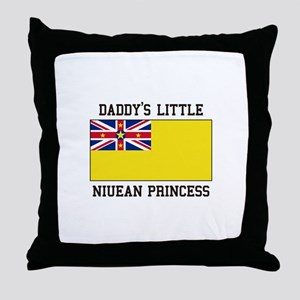 Daddy's Little Niuean Princess Throw Pillow