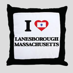 I love Lanesborough Massachusetts Throw Pillow