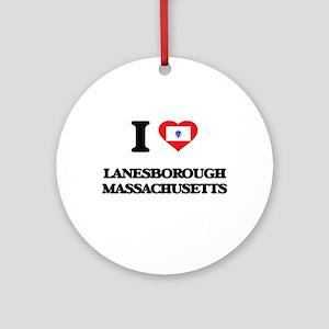 I love Lanesborough Massachusetts Ornament (Round)