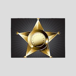 Sheriff Star 5'x7'Area Rug