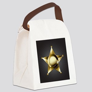 Sheriff Star Canvas Lunch Bag