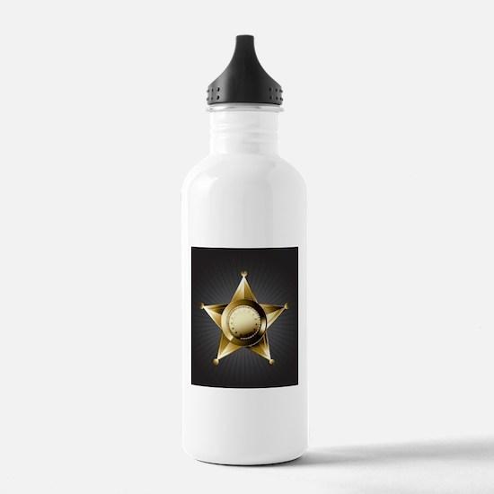 Sheriff Star Water Bottle