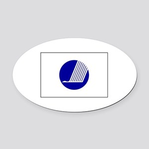 Nordic Council Flag Oval Car Magnet