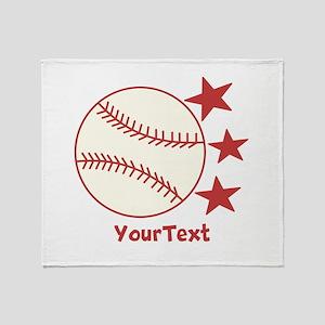 CUSTOMIZE Baseball Throw Blanket