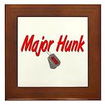 USCG Major Hunk Framed Tile