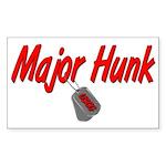 USCG Major Hunk Rectangle Sticker