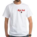 USCG Major Hunk White T-Shirt