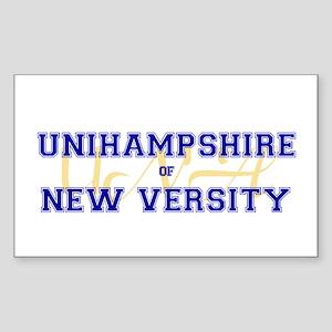 Unihampshire of New Versity -- Sticker (Rectangul