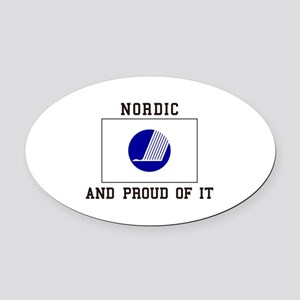 Nordic and proud of it Oval Car Magnet