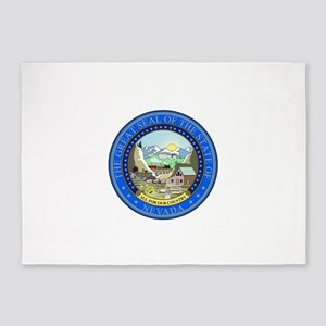 Nevada State Seal 5'x7'Area Rug