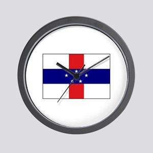 Netherlands Antilles, Flag Wall Clock