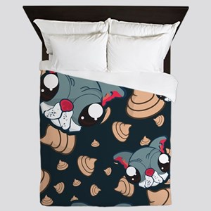 Dog Poop Queen Duvet