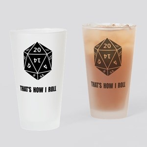 20 Sided Dice Roll Drinking Glass