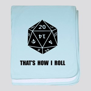 20 Sided Dice Roll baby blanket