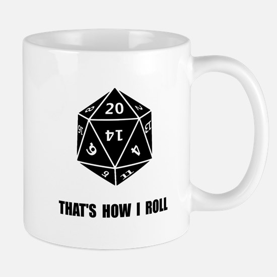 20 Sided Dice Roll Mugs