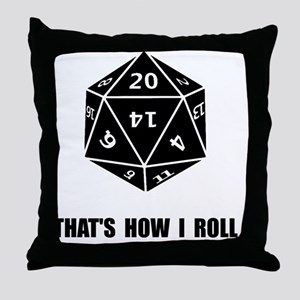 20 Sided Dice Roll Throw Pillow
