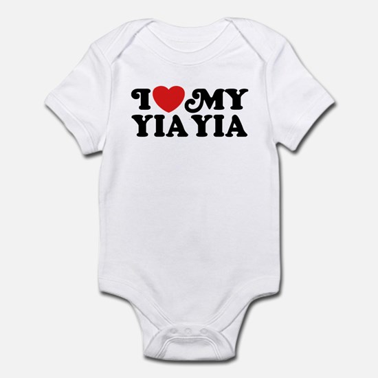 I Love My Yia Yia Infant Bodysuit