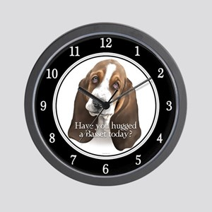Basset hug Wall Clock
