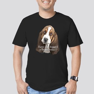 Basset hug Men's Fitted T-Shirt (dark)