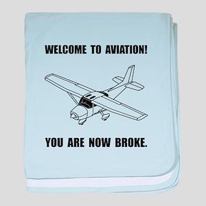 Aviation Broke baby blanket