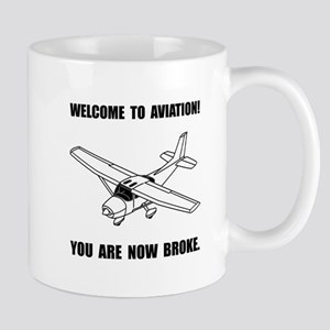 Aviation Broke Mugs