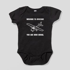 Aviation Broke Baby Bodysuit