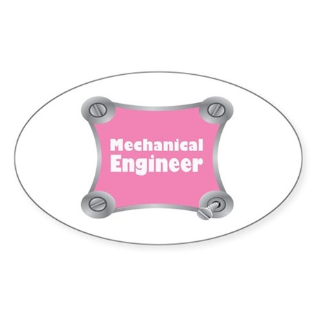 Pink Screw Loose Oval Sticker