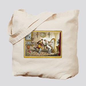Victorian Courtship and Harp Music Tote Bag