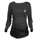 Dandelion Wishes Long Sleeve Maternity T-Shirt