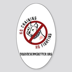 No Chains No Fights Oval Sticker