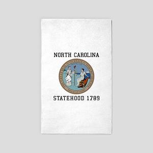 North Carolina statehood 1789 Area Rug