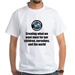Creating Want Most White T-Shirt