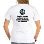 Creating Want Most Women's V-Neck T-Shirt