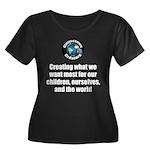 Creating Women's Plus Size Scoop Neck Dark T-Shirt