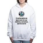 Creating Want Most Women's Hooded Sweatshirt