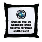 Creating Want Most Throw Pillow
