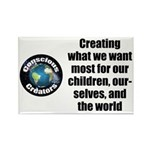 Creating Want Most Rectangle Magnet (100 pack)