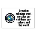 Creating Want Most Sticker (rectangle 50 Pk)