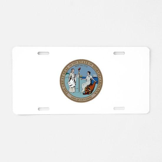 North Carolina State Seal Aluminum License Plate
