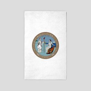 North Carolina State Seal Area Rug