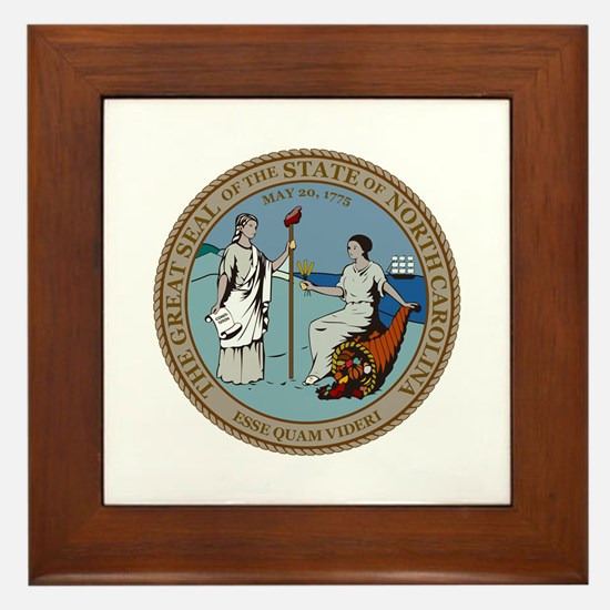North Carolina State Seal Framed Tile