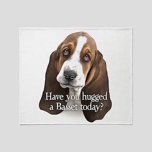 Basset Hug Throw Blanket