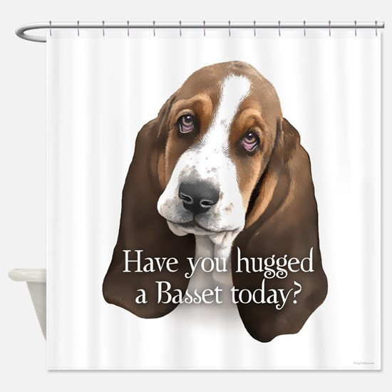 Basset hug Shower Curtain