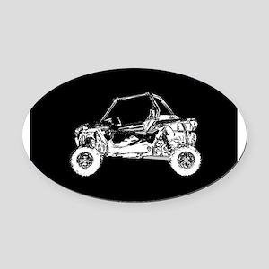 Side X Side Oval Car Magnet