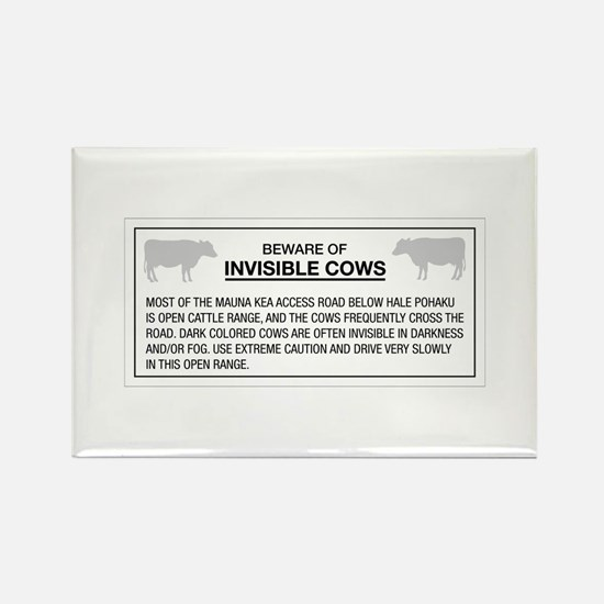 Beware of Invisible Cows, Hawaii (US) Rectangle Ma