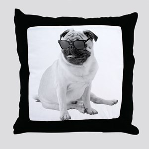 The Shady Pug Throw Pillow