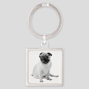 The Shady Pug Square Keychain