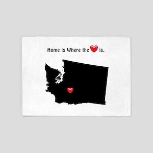WASHINGTON Home is Where the Heart 5'x7'Area Rug